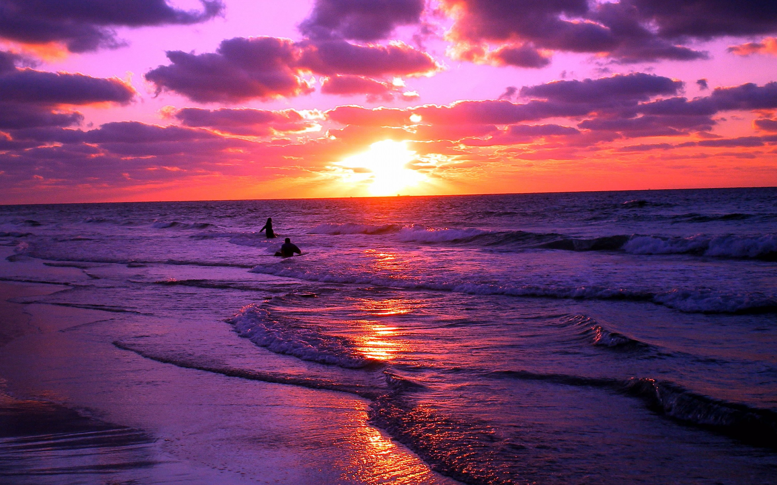 amazing sunset nature beach sunsets ocean purple pretty sun pink beaches sunrise sea summer orange its stunning beauty wallpapers colorful